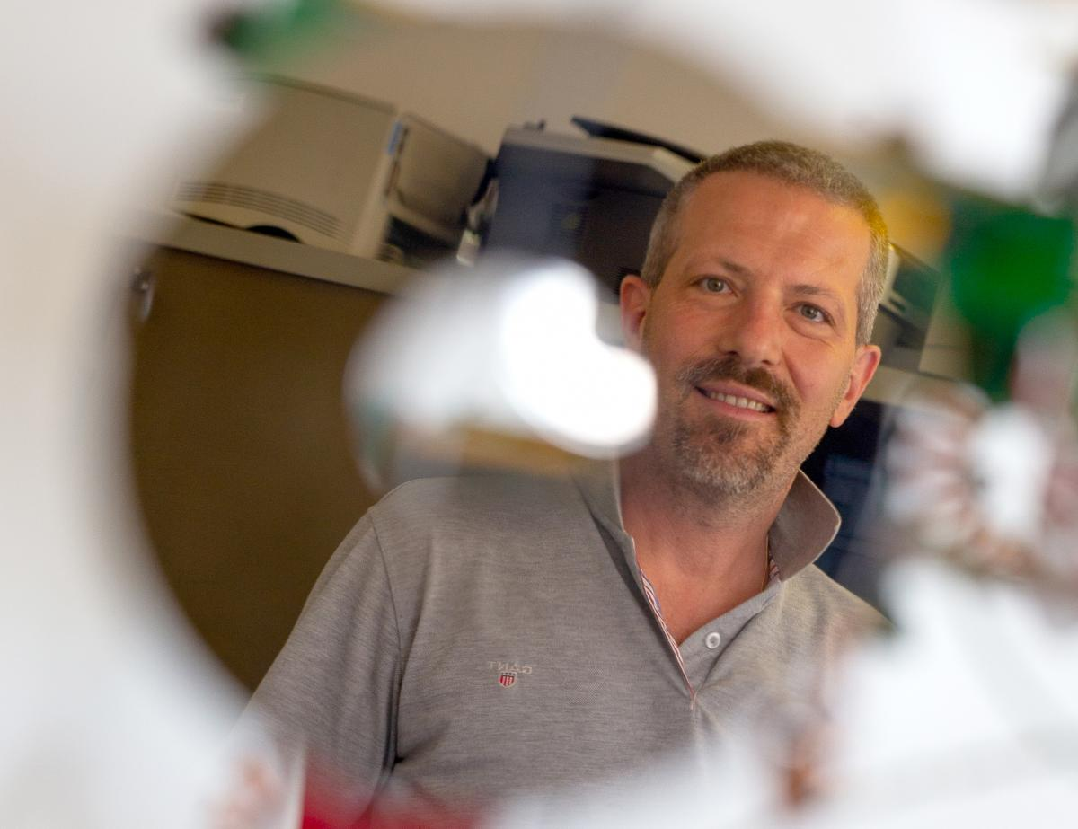 Teacher Roberto Zamparini and the e-waste Christmas tree