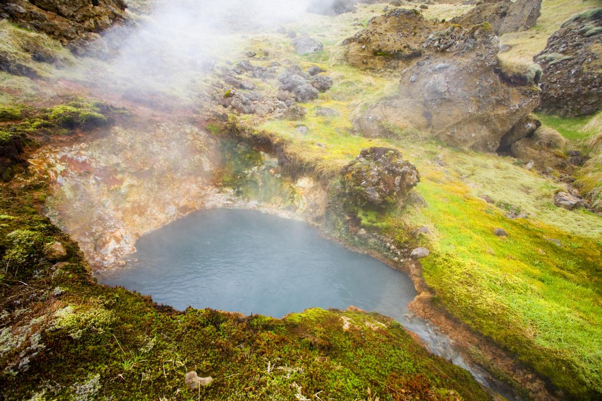 Volcanically heated water provides ideal conditions for thermophiles in Iceland's many geothermal hot spots